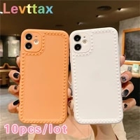 10pcslot camera protection candy color case for iphone 12 11 pro mini soft back cover for iphone max xs xr x se20 7 8 6s plus