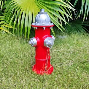 Garden Statue Fire Hydrant Ornaments Training Dog Urination Fixed Position Resin Crafts Lawn Outdoor Courtyard Garden Decoration