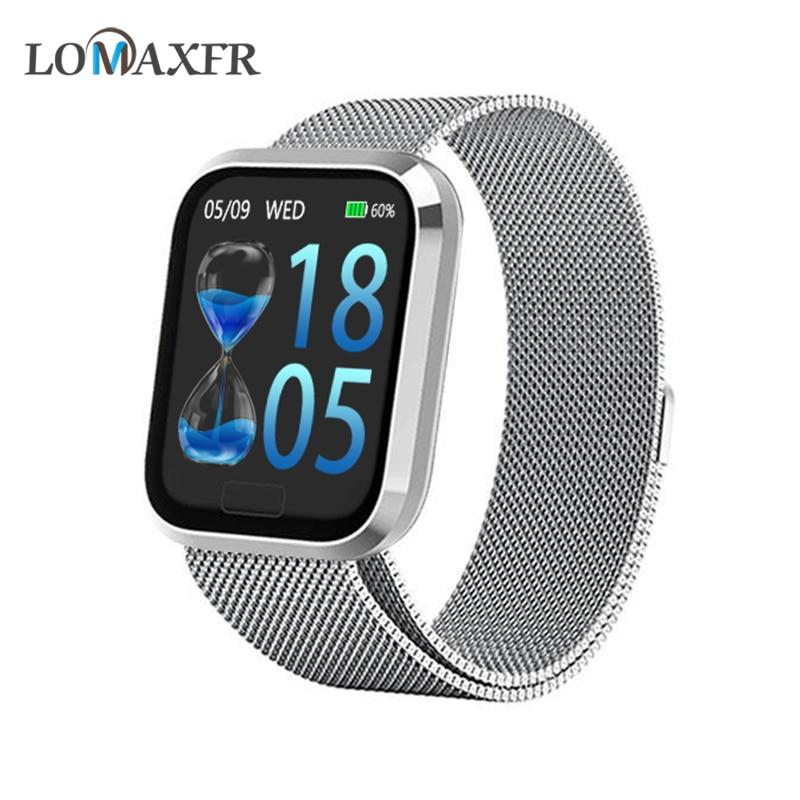 Reloj inteligente Android relojes hombre reloj inteligente resistente al agua para mujer pulsera deportiva Bluetooth Fitness rastreador pulsera PK B57 S226