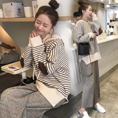 2021 Autumn New Maternity and Nursing Top and Pant Set Pregnant Dress Long sleeve Pregnancy Spring Sets Maternity Set Clothes enlarge