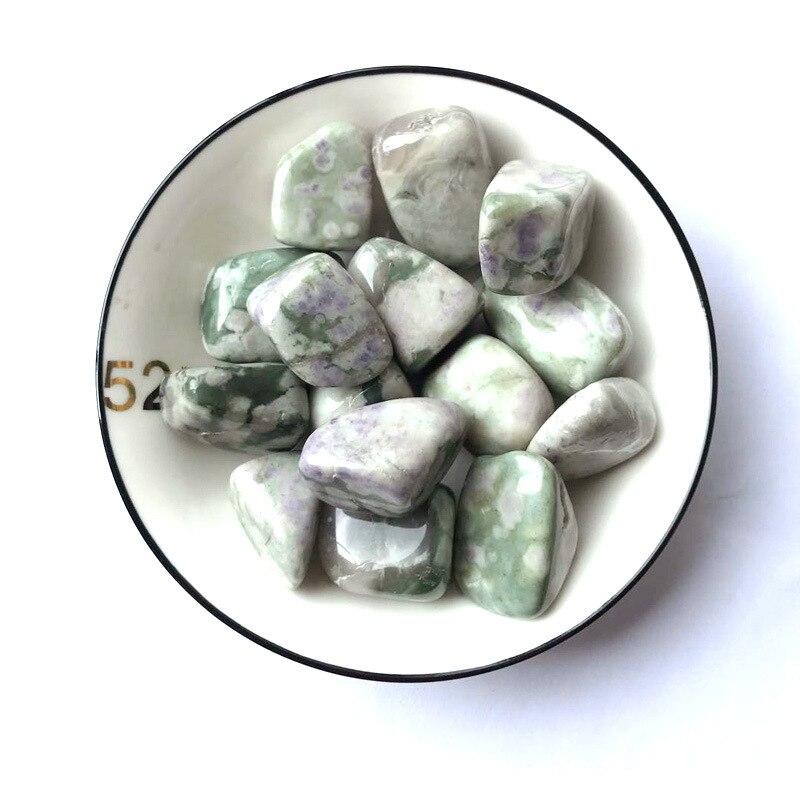 100g natural verde esmeralda auspicioso jade cristal caiu polido pedras decoração pedras naturais e minerais