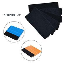 EHDIS 100 шт. виниловая пленка из углеродного волокна для автомобиля, обертывание, Ракель, ткань, войлочная ткань, инструмент для окон, автомобильные аксессуары, наклейки, инструмент