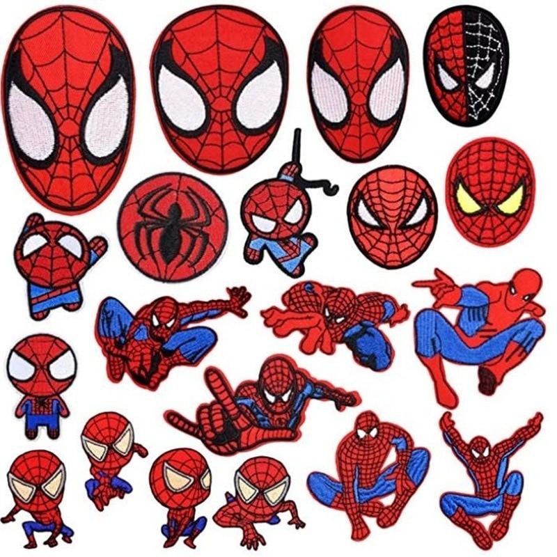 parches-de-superheroes-de-disney-marvel-spiderman-dibujos-animados-20-piezas-pegatinas-para-ropa-calcomanias-de-tela-de-bordado
