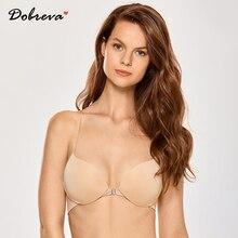 Dobreva mulher camiseta frente fechamento sutiãs push up underwire bra