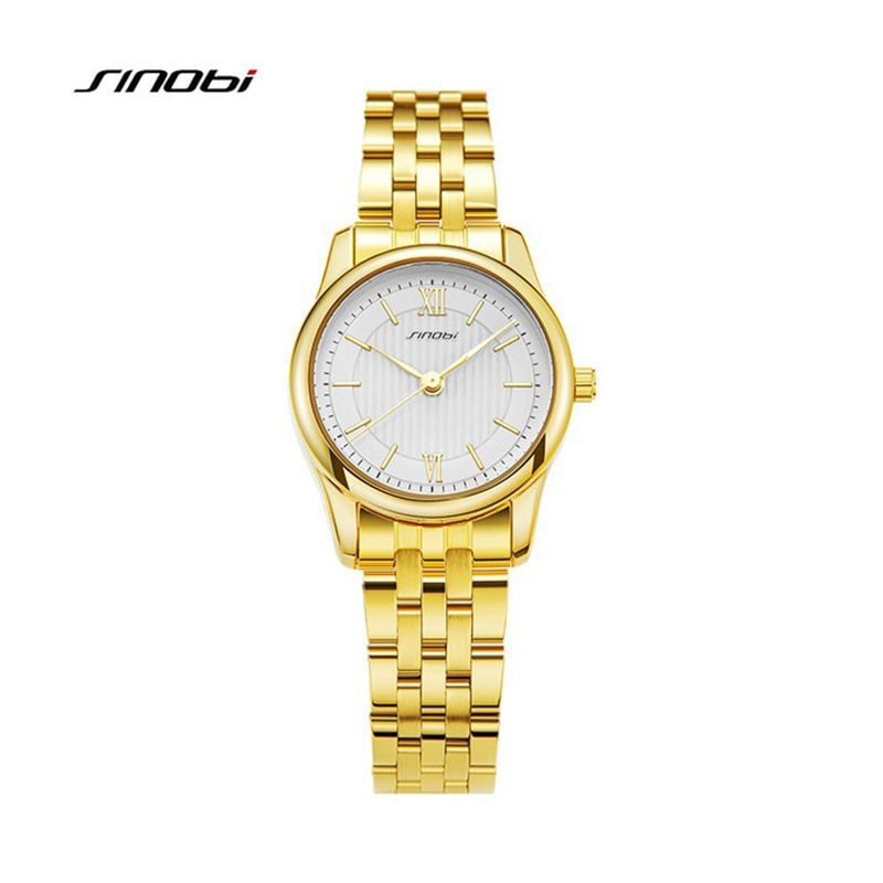 dom 2017 lovers watch couple watch luxury brand white gold watch waterproof style quartz leather wrist watch SINOBI 2021 Fashion Couple Watch Luxury Waterproof Quartz Wrist Watch For Men And Women Business Wristwatch For Lovers