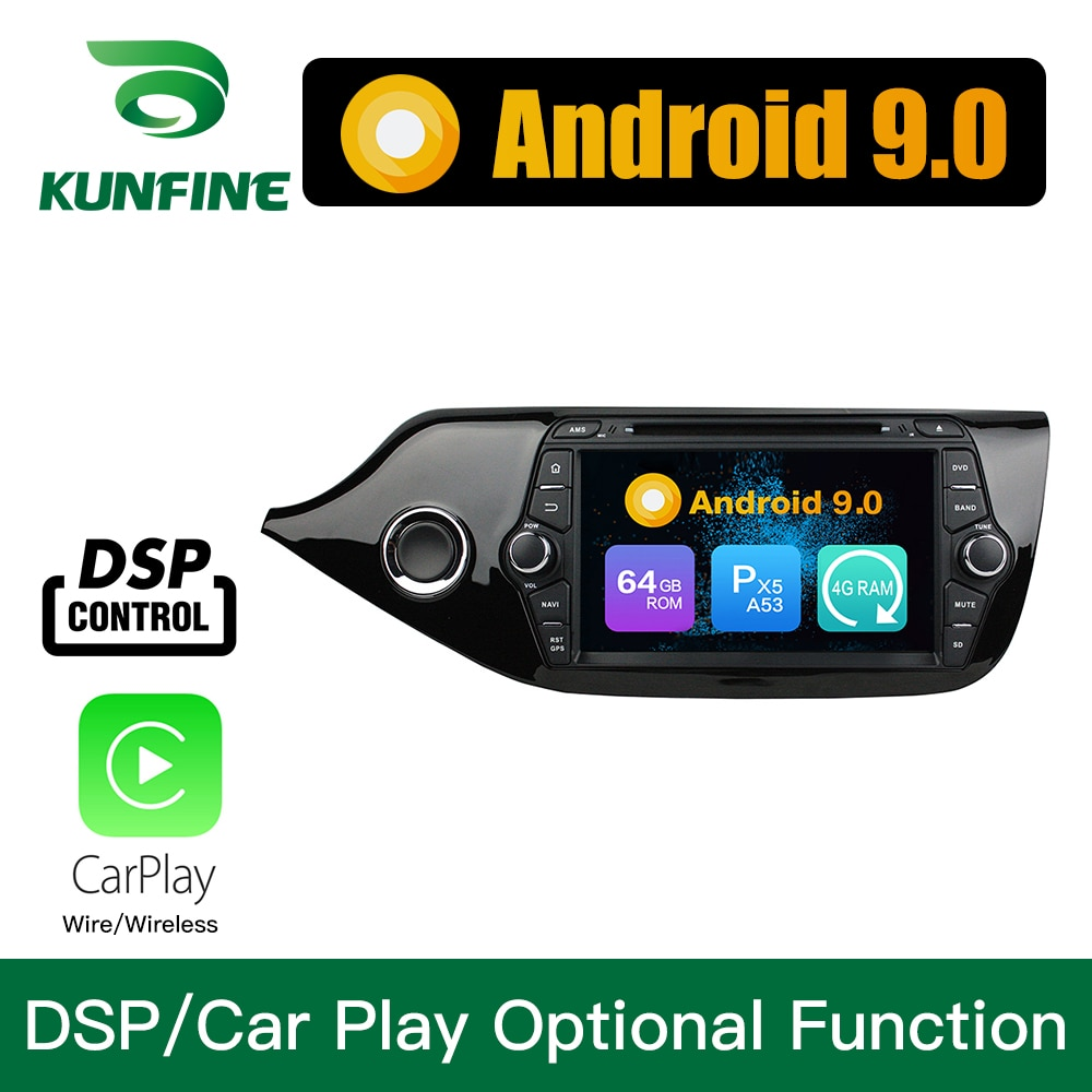 Android 9,0 Octa Core 4GB RAM 64GB Rom GPS DVD de coche reproductor Multimedia estéreo del coche para KIA CEED 2013-2015 Radio Headunit WIFI
