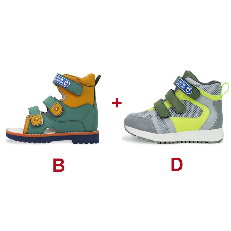 Boys Girls Spring Boots Orthopedic Children Casual Shoes For Kids Toddlers Baby Leather Fashion Cute Sneakers Sandals enlarge