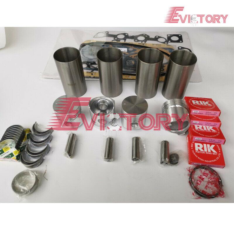 KUBOTA V1902 V1702 valve piston + ring liner gasket bearing set