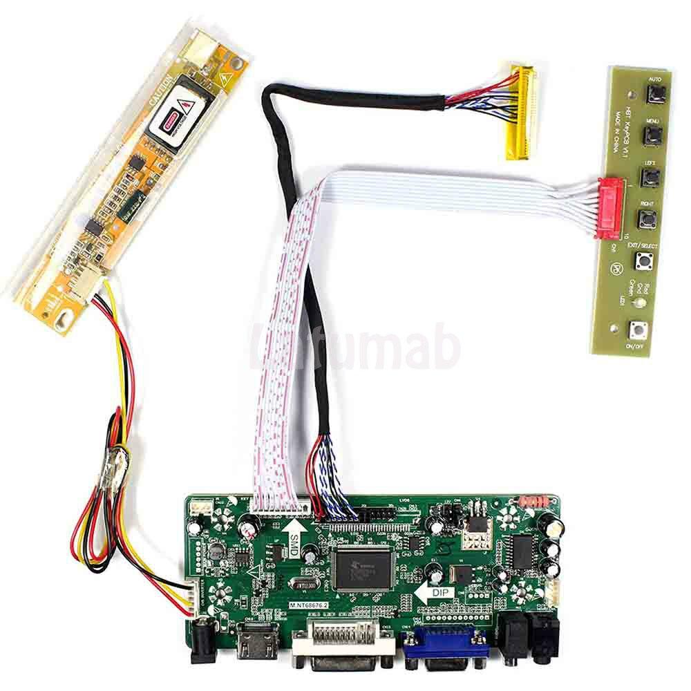Latumab novo lcd led driver placa controlador lvds kit para N154I3-L03 hdmi + dvi vga