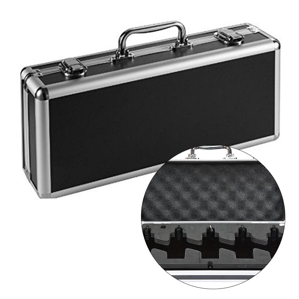 Aleación de aluminio Pedal de guitarra eléctrica tablas con maletín bolsa de almacenamiento capaz de 5 Mini pedales instrumentos suministros con mango