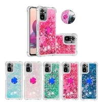 finger ring phone case for xiaomi redmi 9 power 9t note 10 pro max note 10s cases silicone glitter liquid holder back cover capa