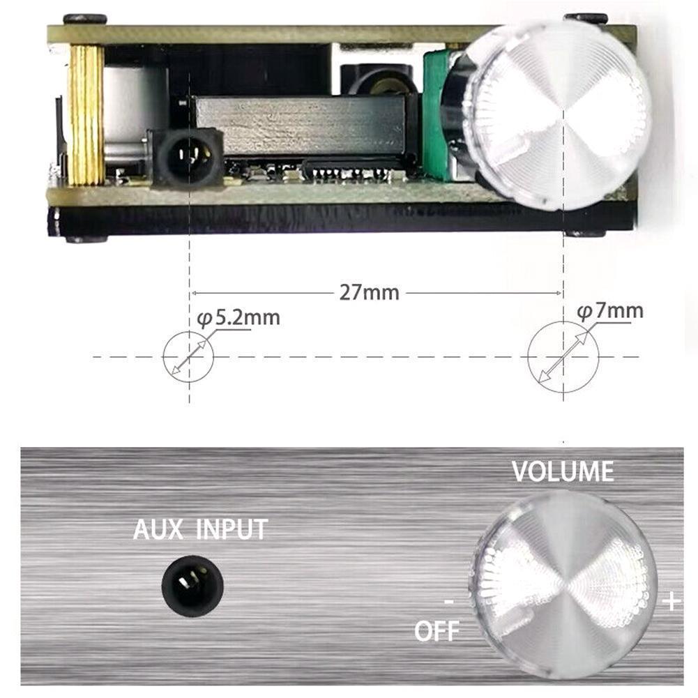 Amplificador DE CINE AMP Q4J6, estéreo HIFI, Bluetooth 5,0, 50W, 50W, TPA3116