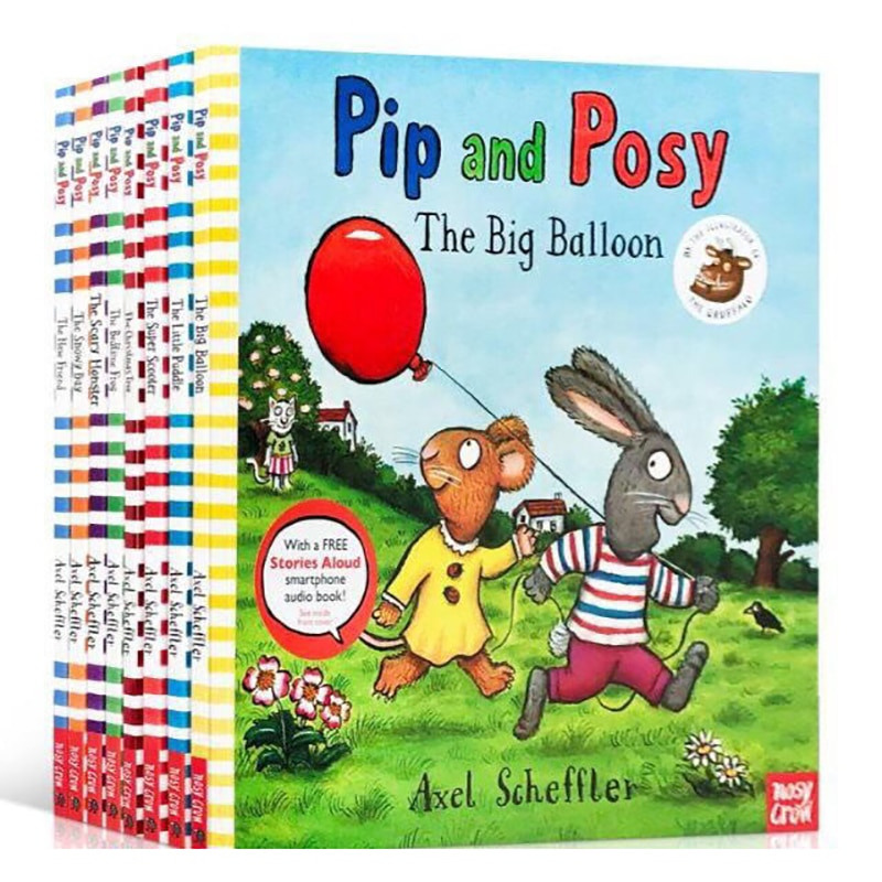 4-8 year 8 book/set Axel Scheffler Pip and Posy Children's classic enlightenment English picture books Children's comic book