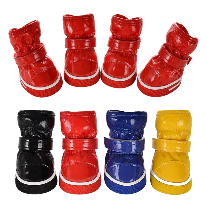 Autumn Winter Pet Dog Shoes For Small Dogs Warm Leather Puppy Snow Boots Waterproof Chihuahua Pug Cat Shoes Booties Pet Products