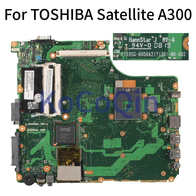 Kocoqin placa-mãe do portátil para toshiba satellite a300 mainboard 6050a2171301-mb-a02 ddr3 testado