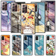 Glass Case For Samsung Galaxy S20 FE S21 S10 S9 Note 20 Ultra 10 Plus 9 Tempered Verre Cover Studio Ghibli Spirited Away Totoro