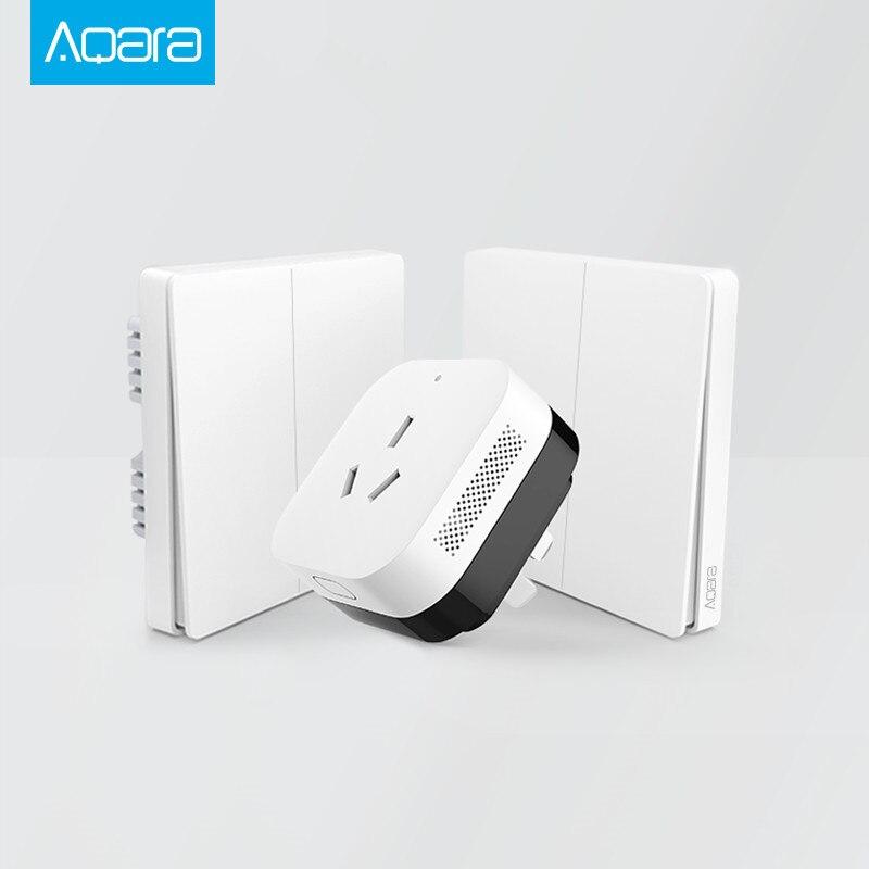 Nuevo Aqara Smart Home Gateway 3, ZiGBee Aqara de luz inteligente Control/Wifi llave inalámbrica y interruptor de pared a través del smartphone APP remoto