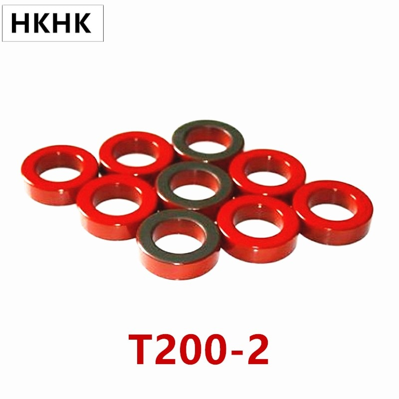 T200 الحديد مسحوق النوى T200-2 OD * ID * HT 51*31*14.5mm 12nH/N2 10uo الحديد الغبار الأساسية الفريت حلقي الأساسية طلاء الأحمر رمادي AG