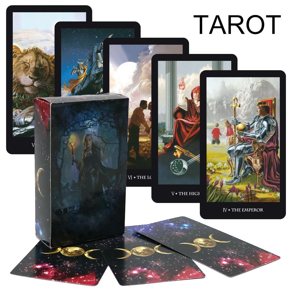 2020 Divination Mystic Tarot deck, juego de cartas de hadas tarot, Inglés completo, lee tu destino, fortuna, futuro juego de mesa