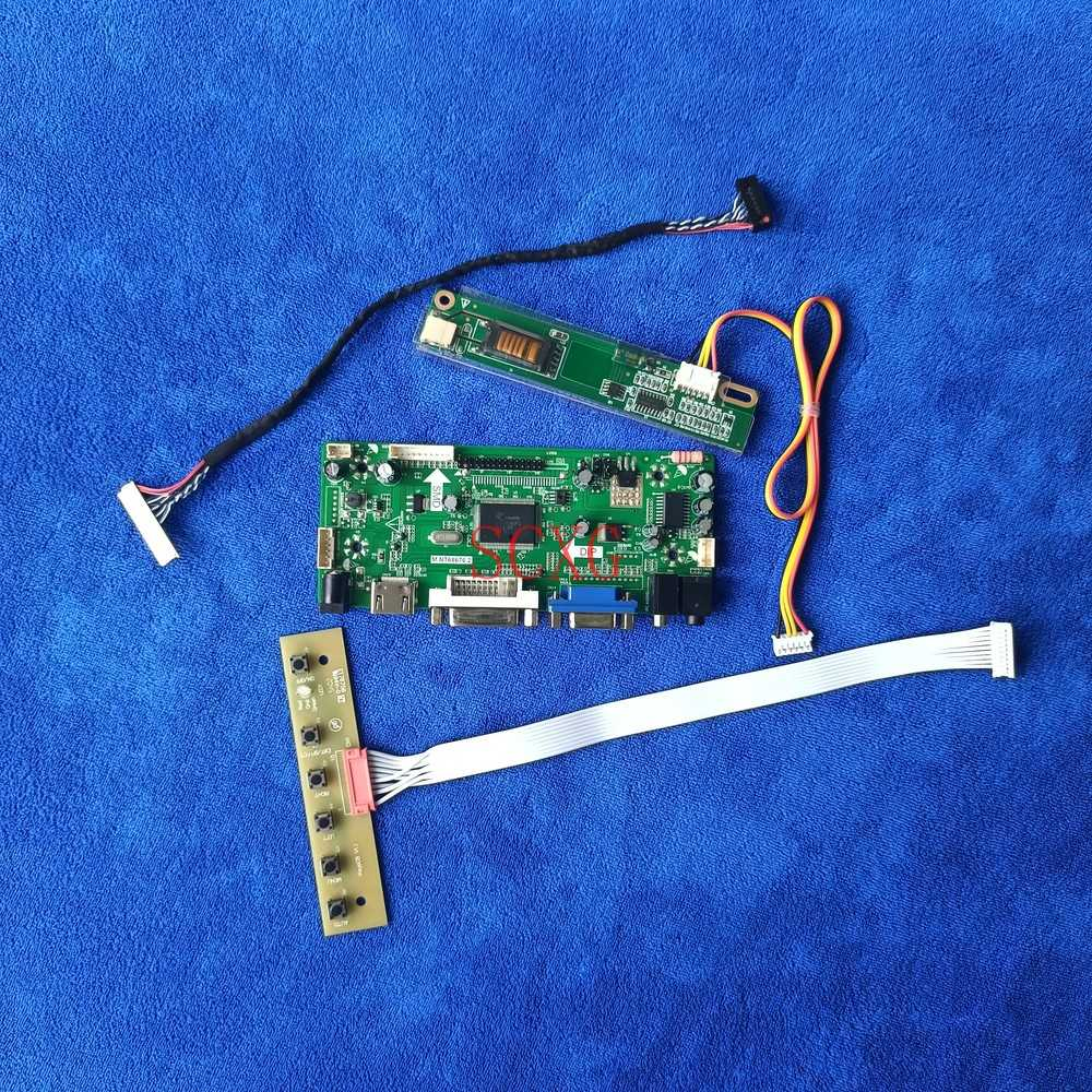 Fit HSD150PX14/HSD150PX15/HSD150PX16/HSD150PX17 1024*768 مراقب 1CCFL LVDS 30 دبوس VGA DVI HDMI متوافق مع عدة لوحة تحكم