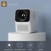 xiaomi wanbo projector portable mini home theater projector t2 max t2 free lcd projectors led support 1080p vertical correction