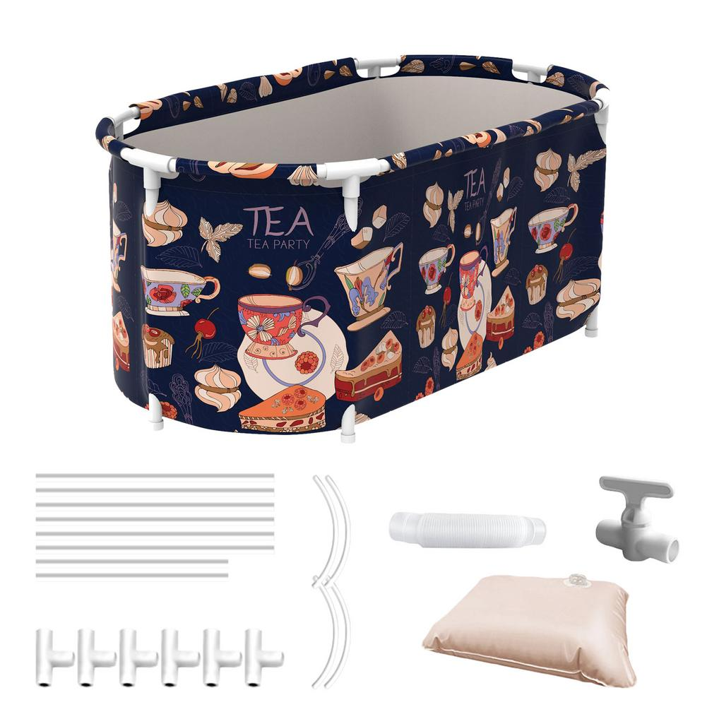 Conjunto de bañera portátil para mujeres y adultos, bidé, barril de baño, cubo plegable