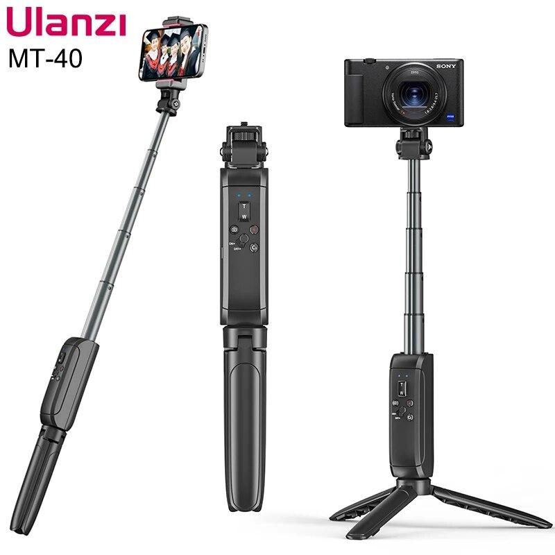 Ulanzi MT-40 بلوتوث اللاسلكية Selfie اطلاق النار قبضة ترايبود بلوتوث عن بعد لسوني ZVE-10 الهاتف الذكي Gopro 9 8 الرياضة كاميرا