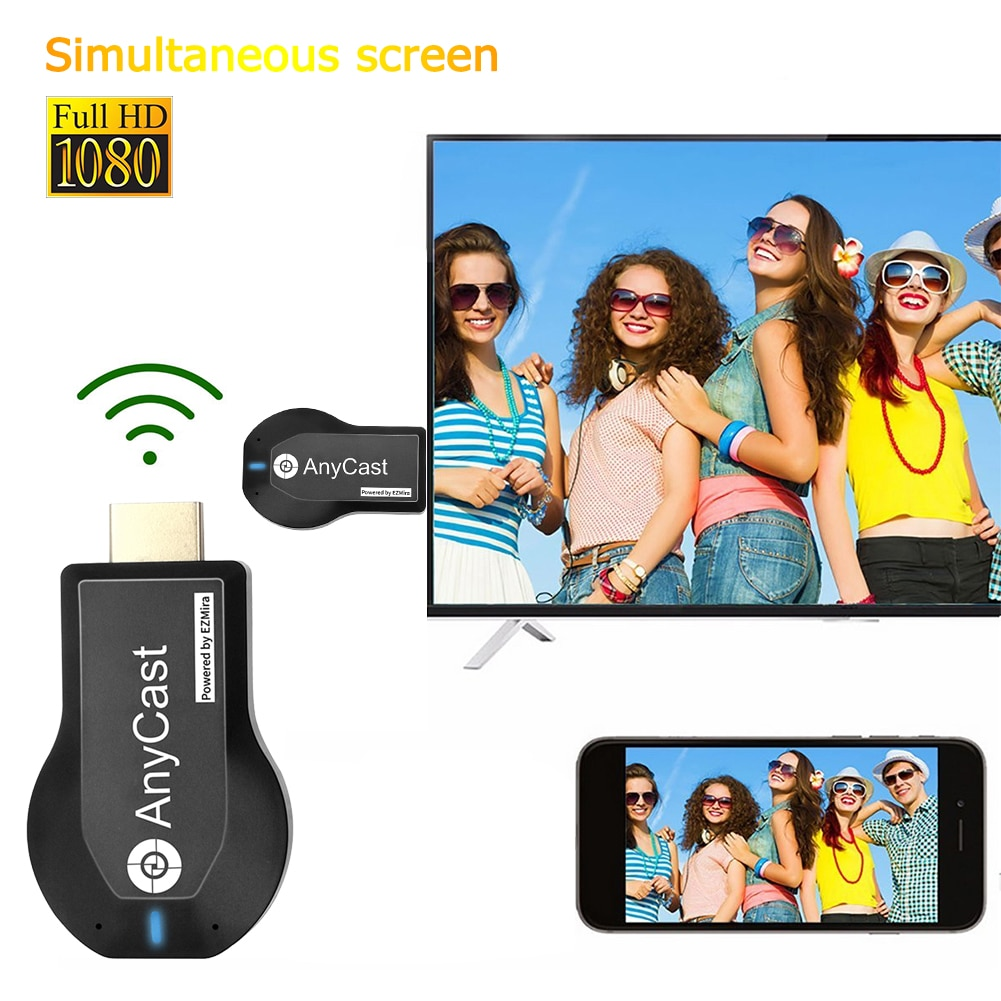 Anycast M2 Plus HDMI-compatible TV Stick 4K Wireless DLNA AirPlay WiFi Display Dongle Receiver For I