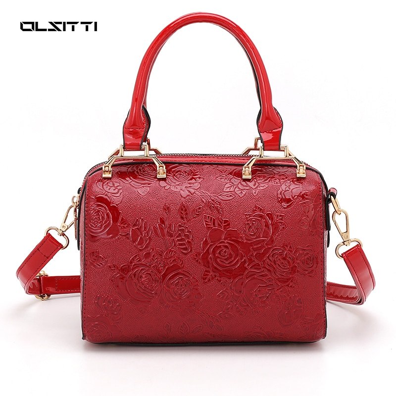 Vintage Printing High Quality PU Leather Shoulder Bags for Women 2021 New Luxury Brand Designer Ladies Handbags Sac A Main