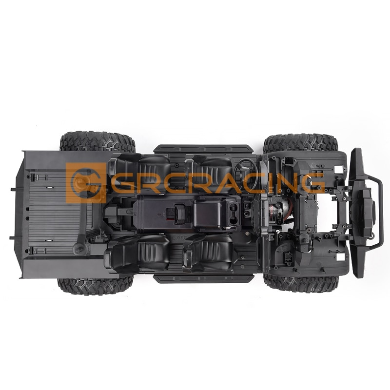 Plastic Interior battery cover with armrests Box For 1/10 RC Crawler Car Traxxas TRX4 Defender Upgrade parts decoration enlarge