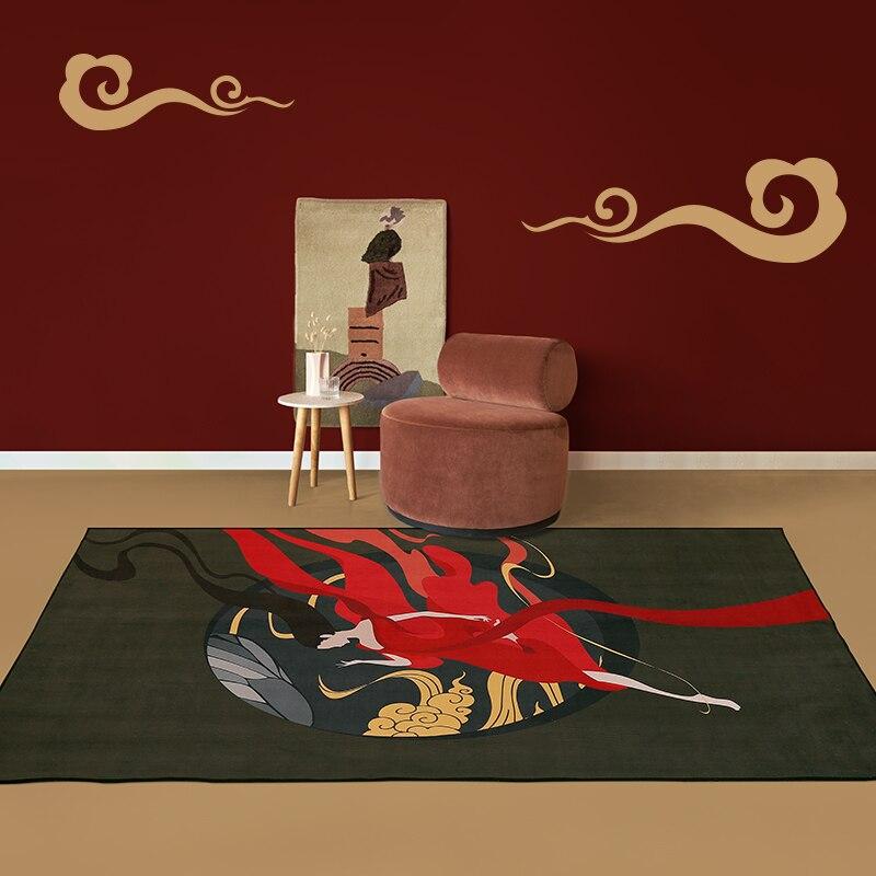 النمط الصيني السجاد المنزل الديكور الفن البساط فتاة نمط السجاد لغرفة المعيشة الحمام الحصير الكلمة غرفة نوم السرير سجاد كبير