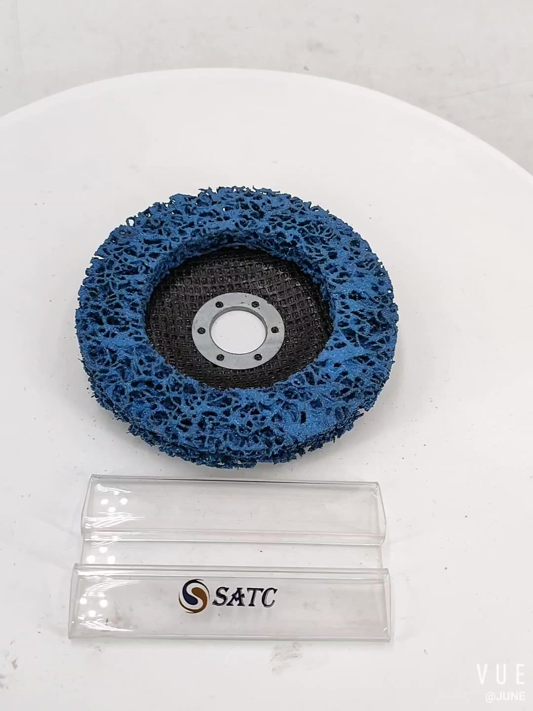 SATC Abrasive Discs 5Inch 125mm Fiberglass Backing Angle Grinder Rust Removal Quick Strip Disc for Polishing