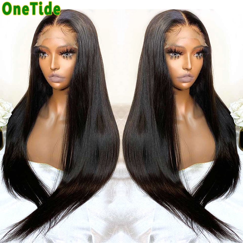 Wholesale Bone Straight Lace Front Wig Pre Plucked Lace Wig Brazilian Lace Frontal Hair Wigs For Women's Human Hair Closure Wig