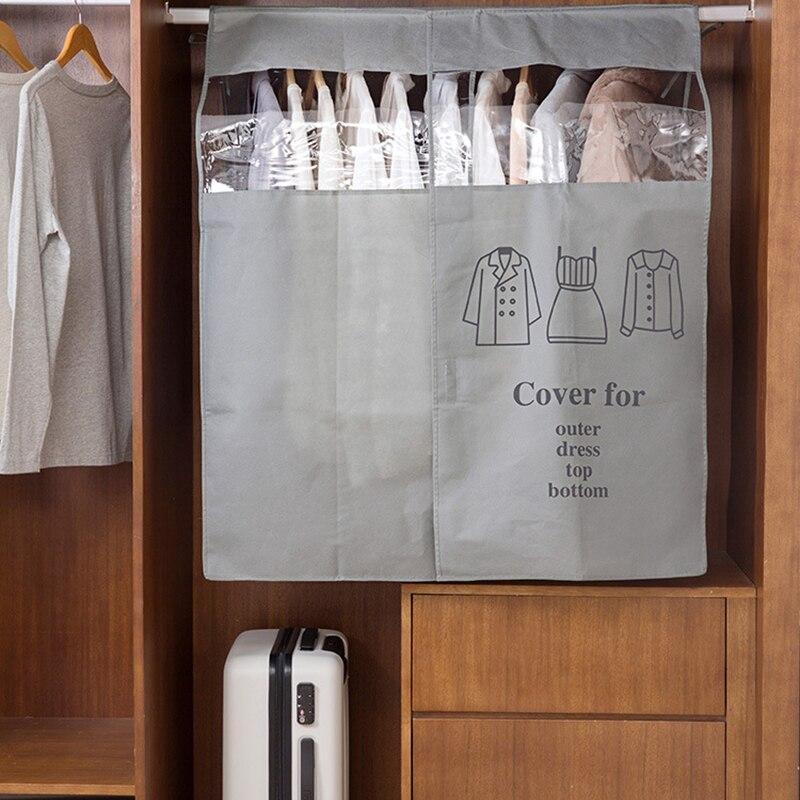 Capa de roupas à prova de poeira para casa não-tecido vestuário terno vestido casaco pano protetor de armazenamento capas de roupas closet organizer