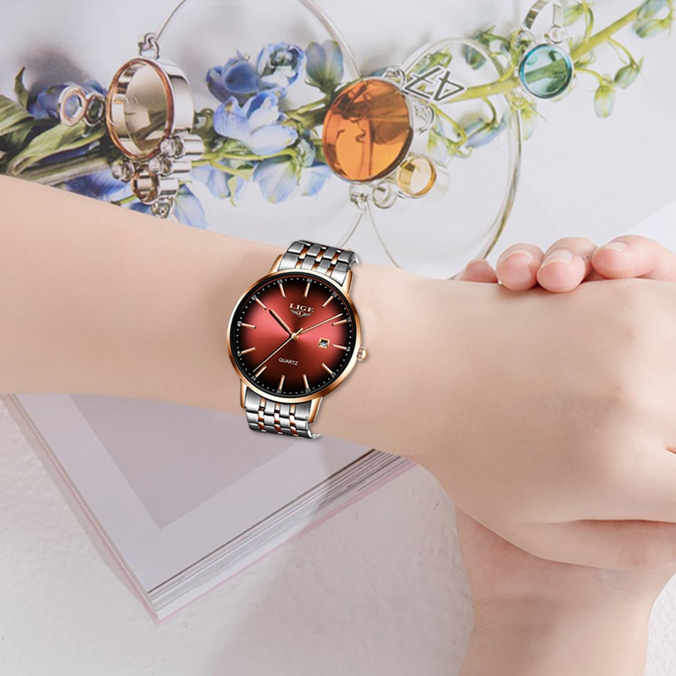 2021 Classic Women Watches Rose Gold Top Brand Luxury Laides Waterproof Watch Business Fashion Casual Quartz Calendar Wristwatch enlarge