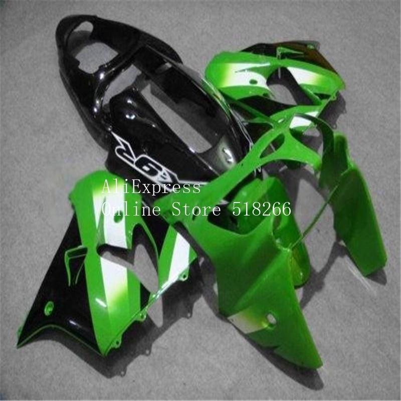 Carenados completos de motocicletas negras sin pintar para Kawasaki ZX9R 2000 2001 ZX-9R 00 01 zx9r ABS Kit de carenado de plástico nuevo