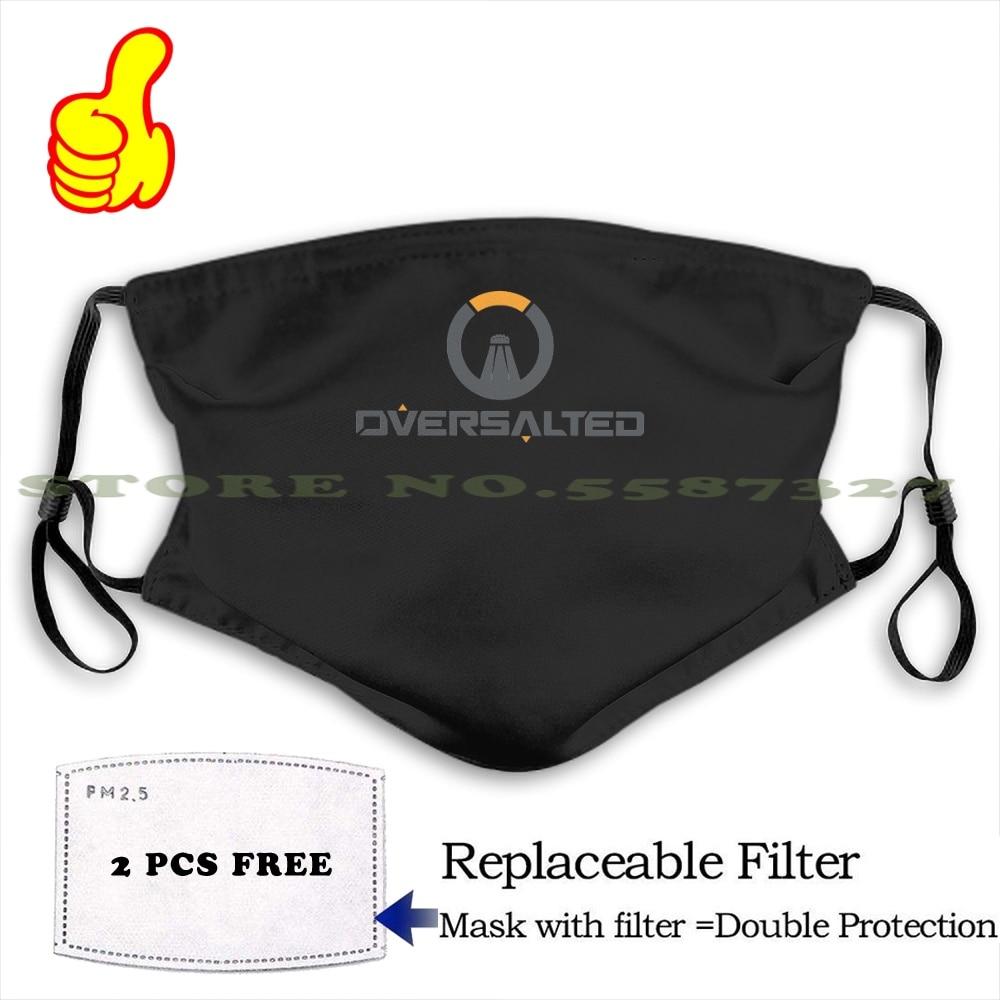 Mascarilla reutilizable Oversalted, diseño divertido, negra, cuadrada, Enix, Playstation 4, Xbox One,...