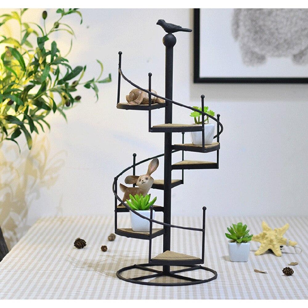 8-Tier Spiral Staircase Stand Plant Stand Planter Shelves Flower Pot Organizer Storage Rack Indoor Outdoor Plant Display Shelf