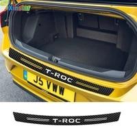 carbon fibercar car bumper sticker for vw volkswagen troc t roc