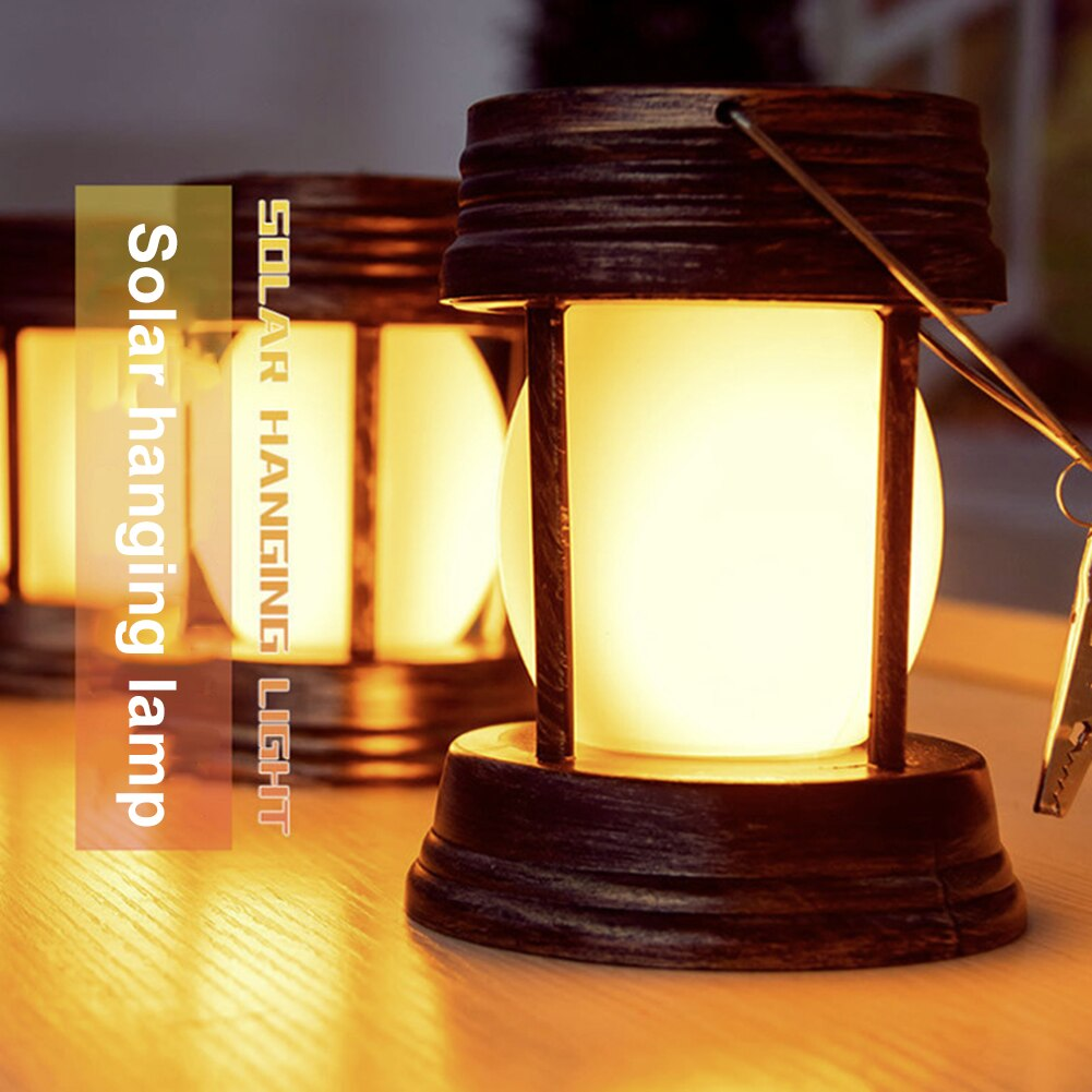 LED Solar Lantern Light Retro Kerosene Hanging Outdoor Garden Street Yard Landscape Lamp Antique Garden Decoration