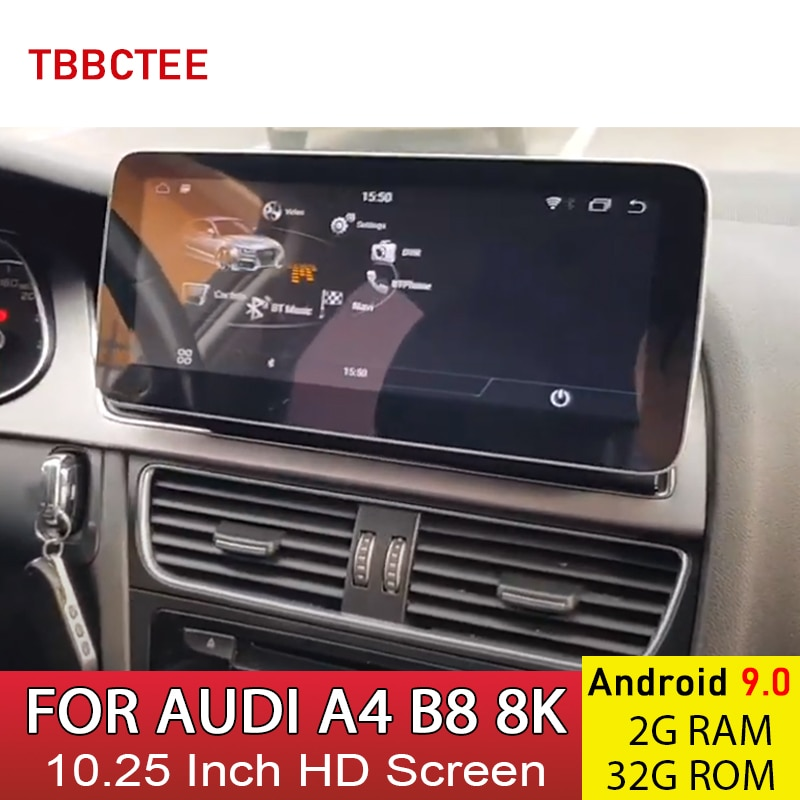 aoluoya ram 2gb 32gb android 6 0 2 din car radio dvd gps player for audi a4 s4 rs4 2002 2007 2008 car audio navigation head unit Android 9.0 2+32G Car Multimedia Player For AUDI A4 B8 8K 2008~2016 MMI 2G 3G Auto Stereo Radio GPS Navigation Head unit