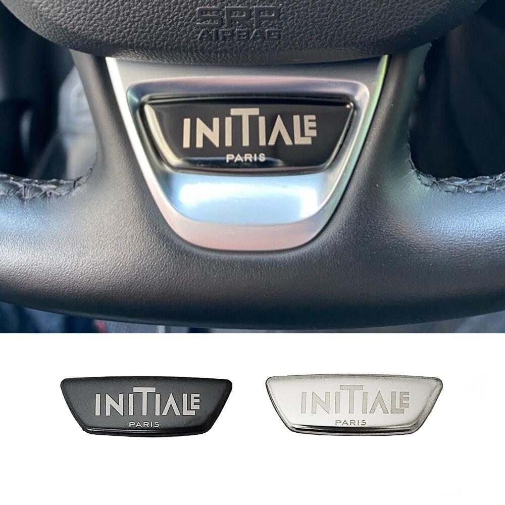 Embellecedor para volante con diseño de coche, cubierta con emblema para RENAULT KOLEOS KADJAR MEGANE 4 2017 2018 2019 Accesorios