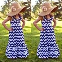 kids girls summer halter dress boho maxi long party dresses striped girls clothe