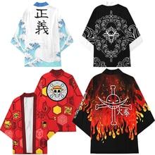 Anime Luffy Edward Newgate Ace Trafalgar Law Corazon Costume Cosplay cappotto uniforme mantello top Kimono Haori Shirt Unisex
