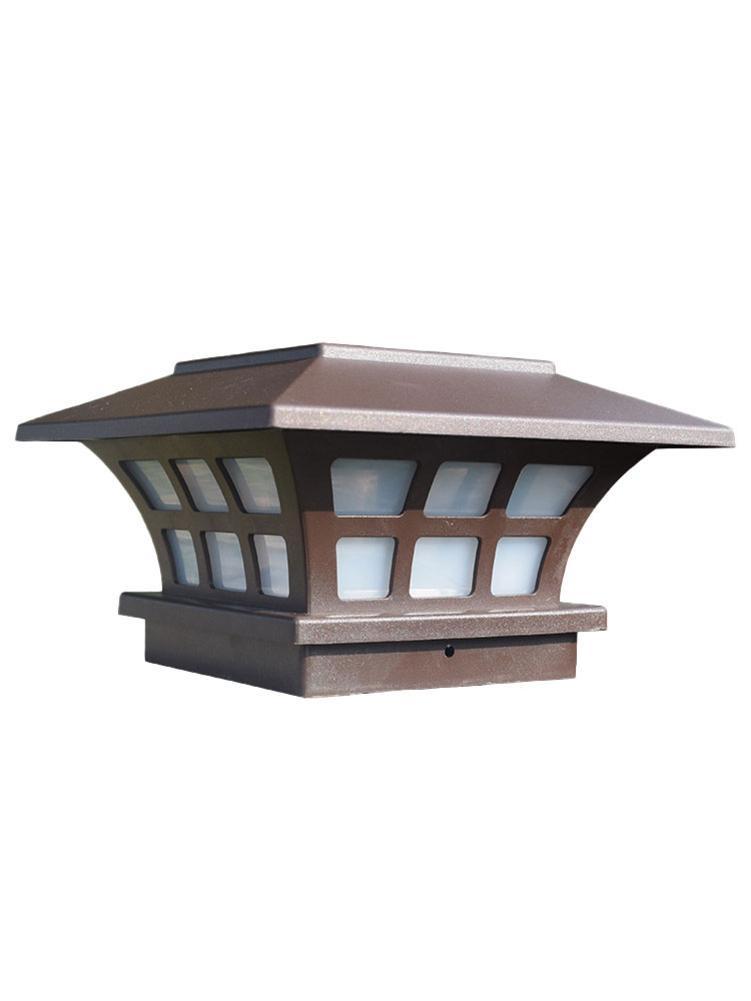 Solar Post Lights Outdoor Fence Deck Caps Light Solar Powered LED Lighting Waterproof Outdoor Cap Lights For Garden Fence