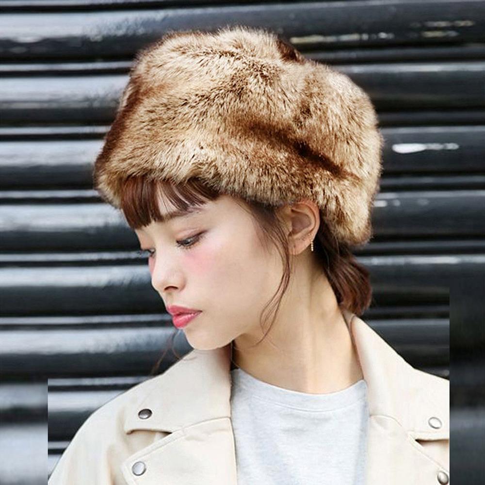 Fashion Women Winter Hat Keep Warm Faux Fur Headgear Snow Hat Cap шапка женская шапк