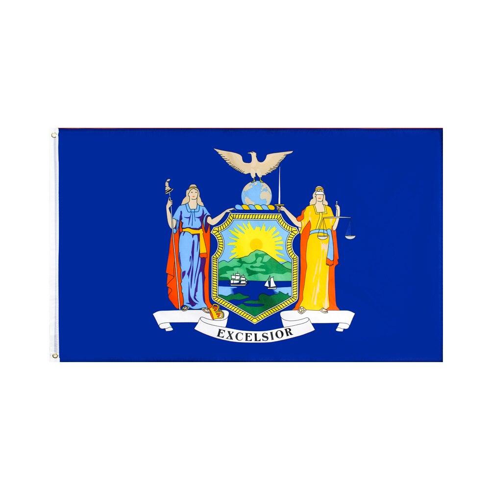 Bandera de Nueva York Yehoy, colgante de 90x150 cm, para decoración del...