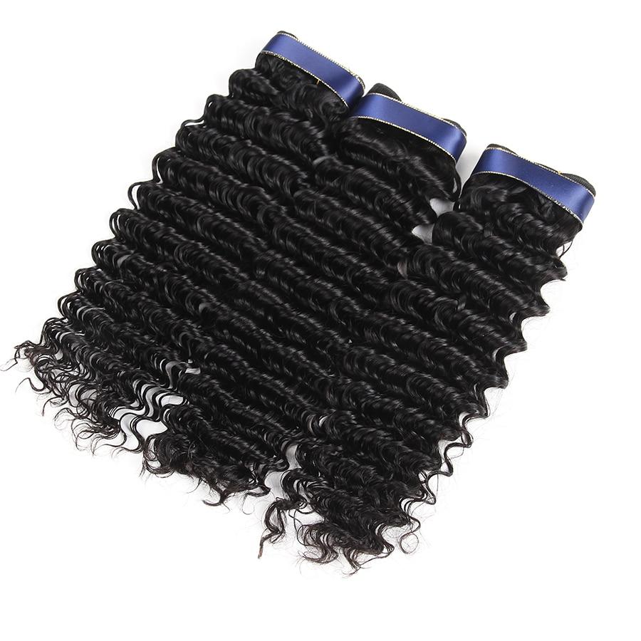 onda profunda peruana feixes de cabelo humano encaracolado tecer cabelo nao remy