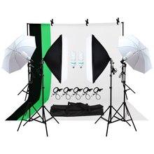 4 pièces 135w ampoule Photo Studio boîte souple 4 support de lumière 2 boîte souple Kit déclairage photographique appareil Photo & accessoires Photo Studio