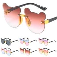 sunglasses for kid outdoor cute glasses sun protection eyewear little bear gradient color len eyeglass children rimless sunglass